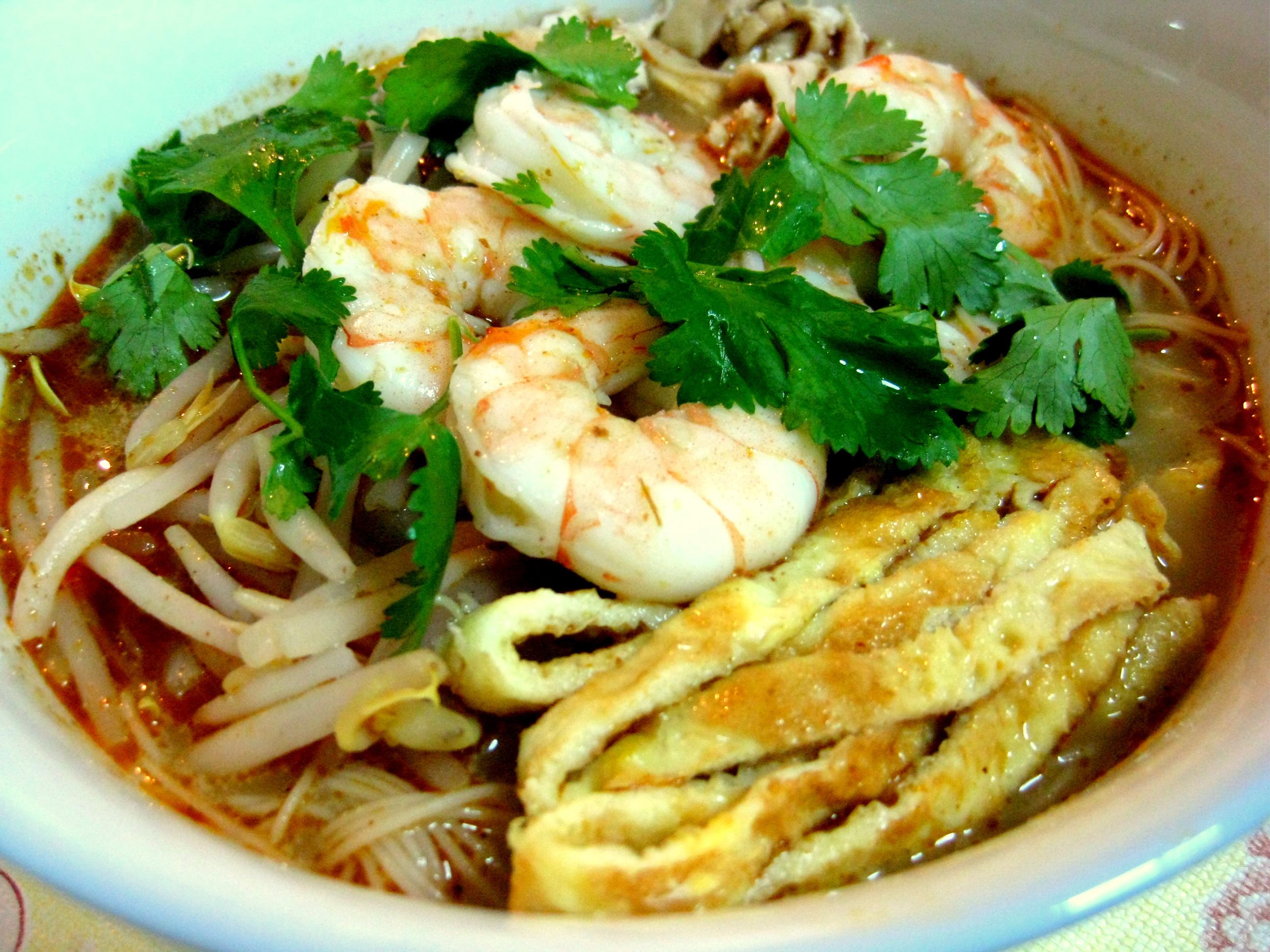 Sarawak laksa kelly siew cooks for X cuisine miri menu