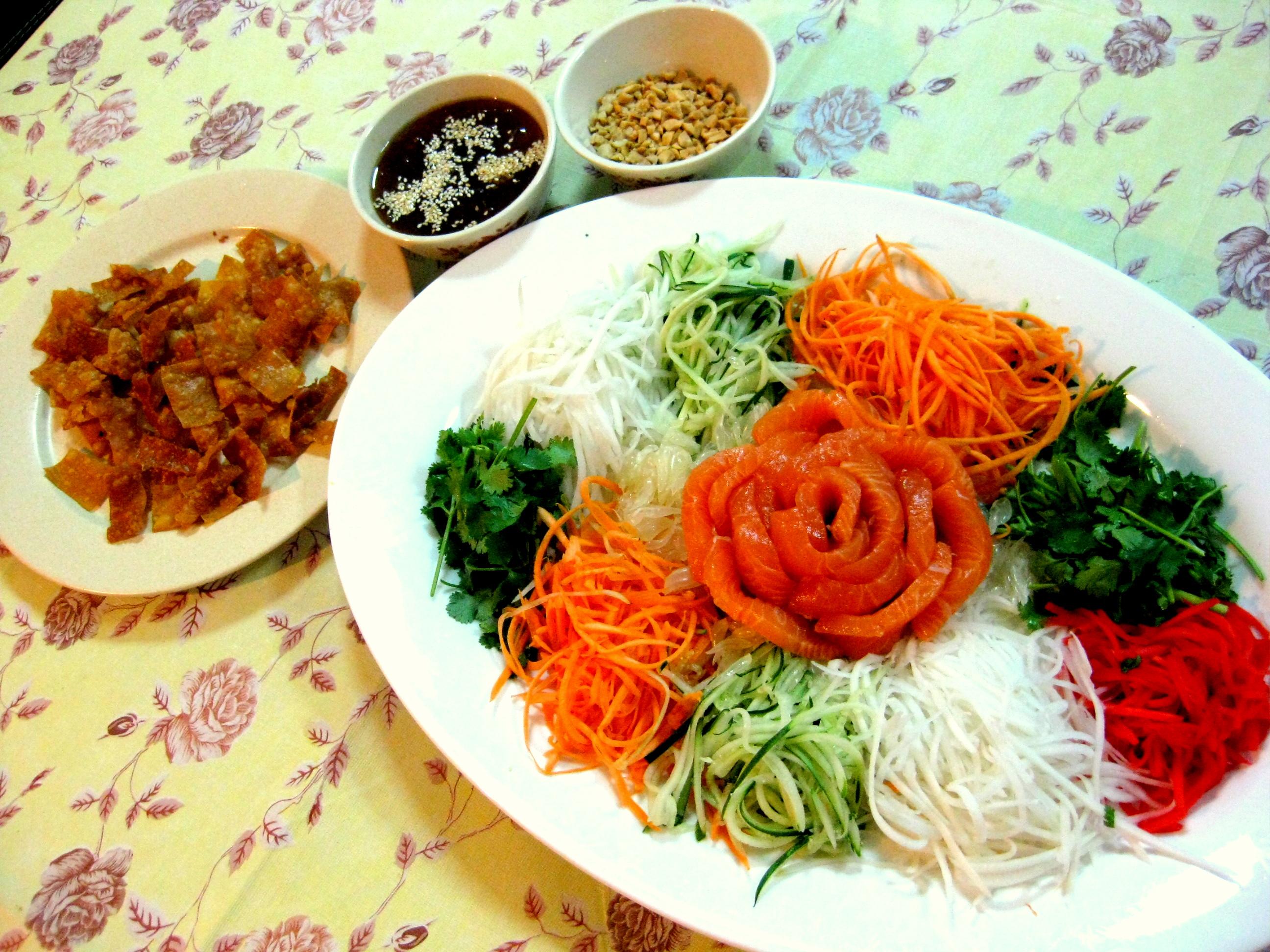 chinese new year yee sang  u2013 kelly siew cooks