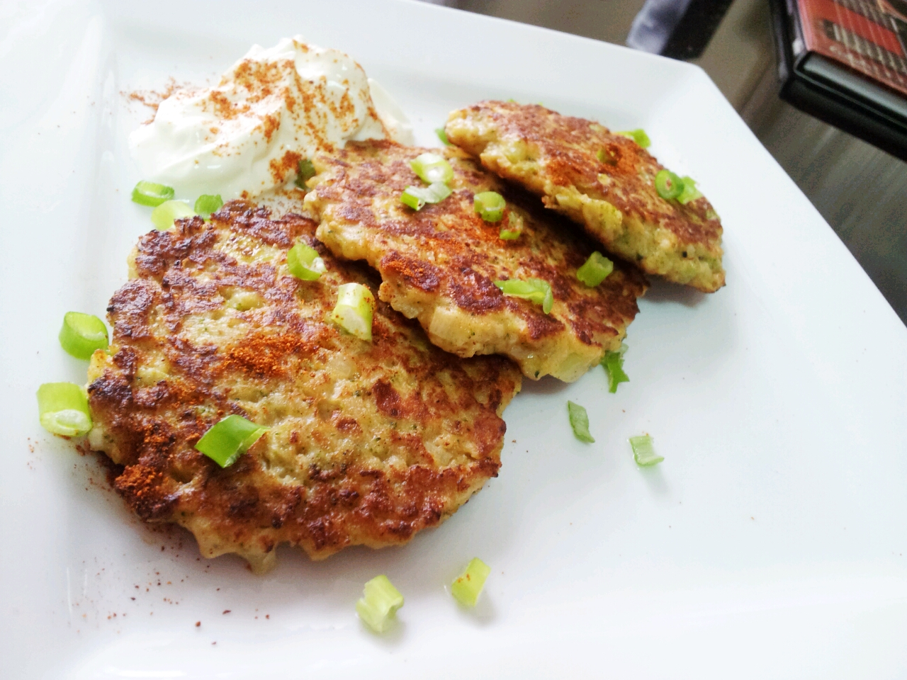 Broccoli and Cauliflower Fritters | Kelly Siew Cooks