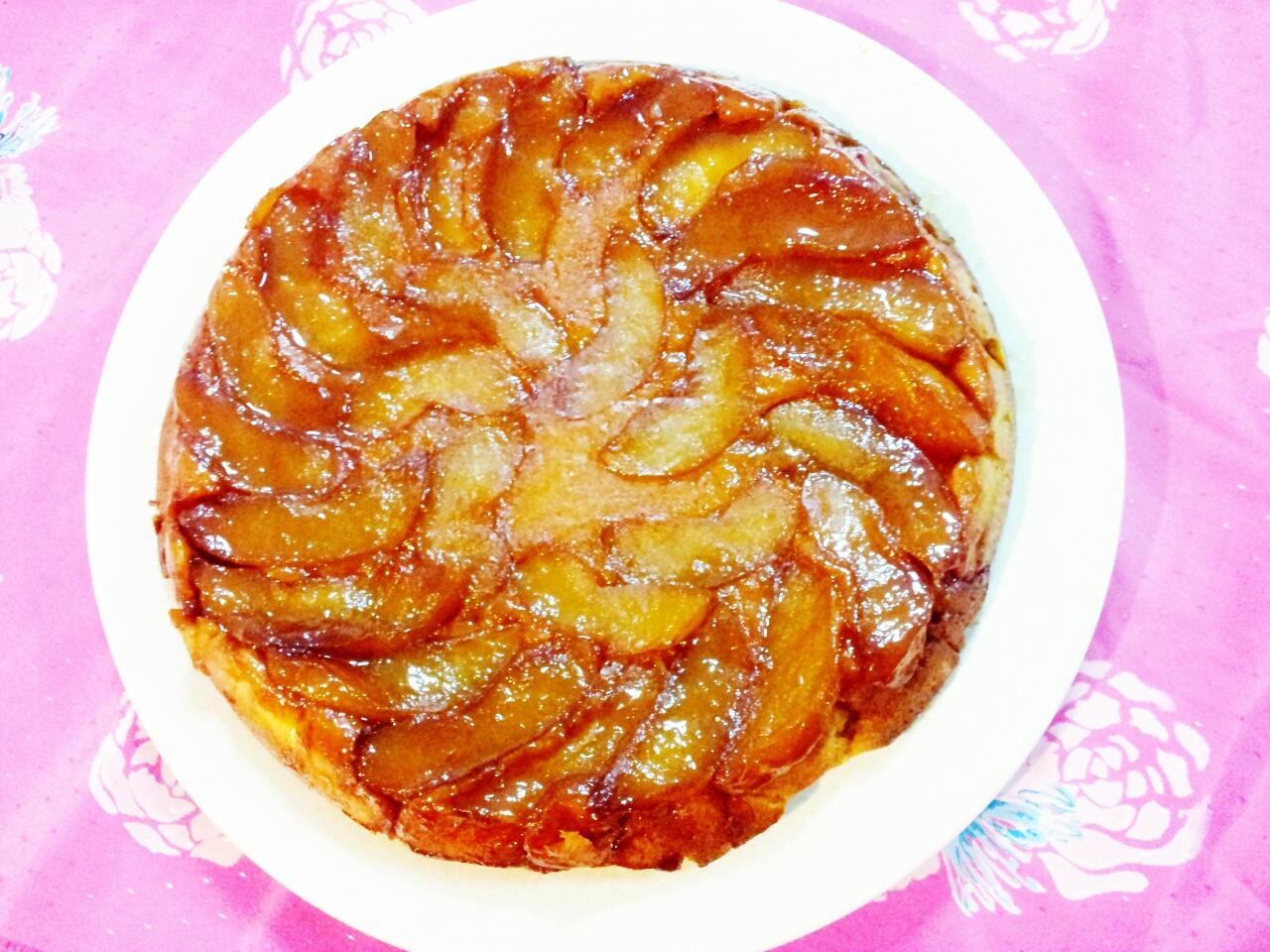 Warm Apple-Cornmeal Upside-Down Cake Recipe — Dishmaps