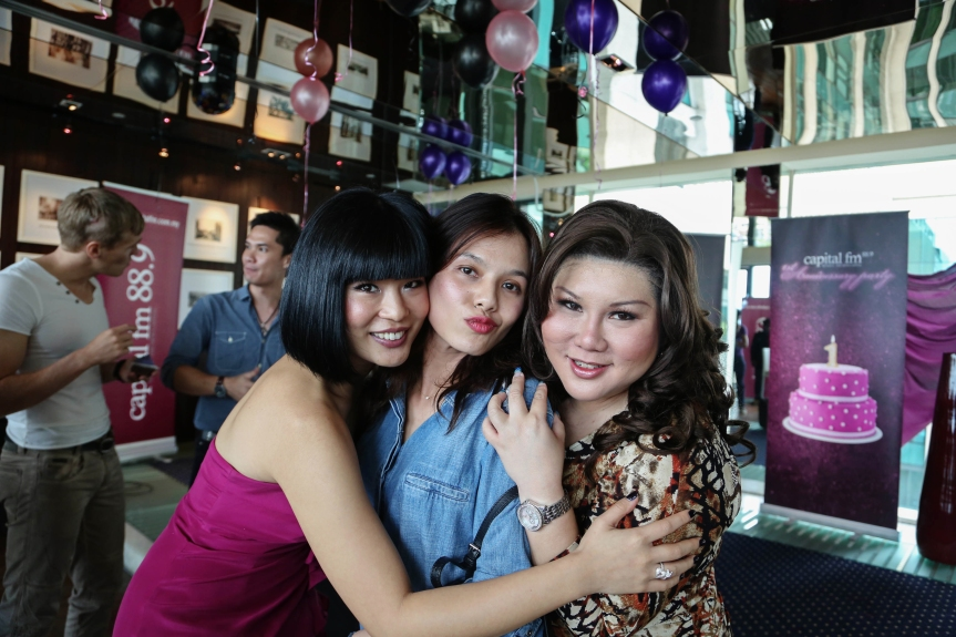Xandria Ooi (women with many talents), Lynette Ow (the general manager), and the funny woman Joanne Kam