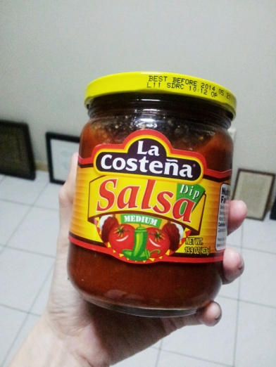 Medium Salsa works well.