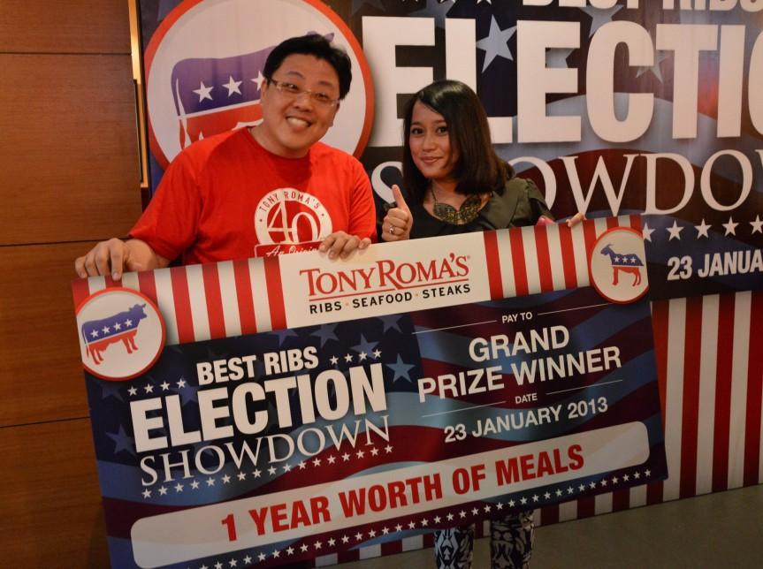 Miss Nurlyiana Ridzuan, the lucky winner.