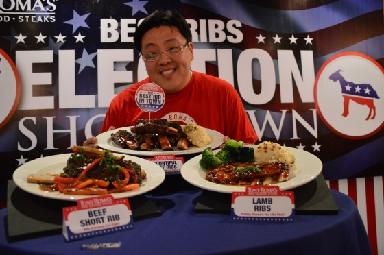 The happy boss, who said his favourite is actually Lamb ribs because it's a recipe close to his heart.