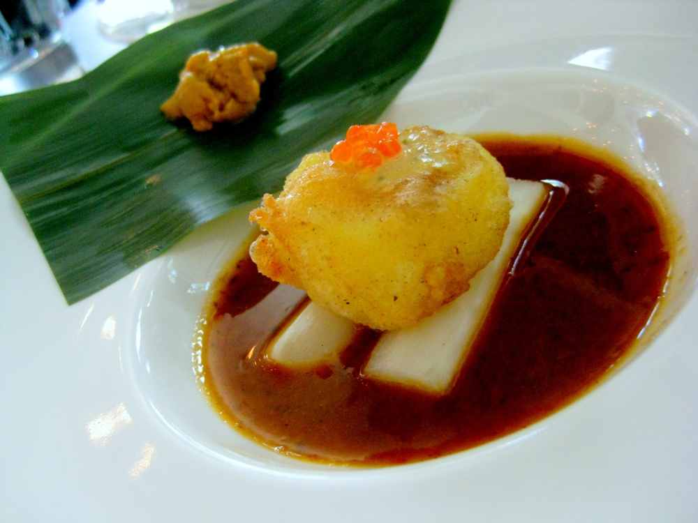 Sea Urchin & Crispy Tofu