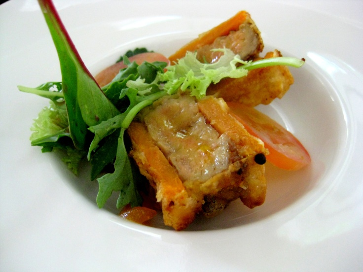 Goose Liver and Sweet Potato