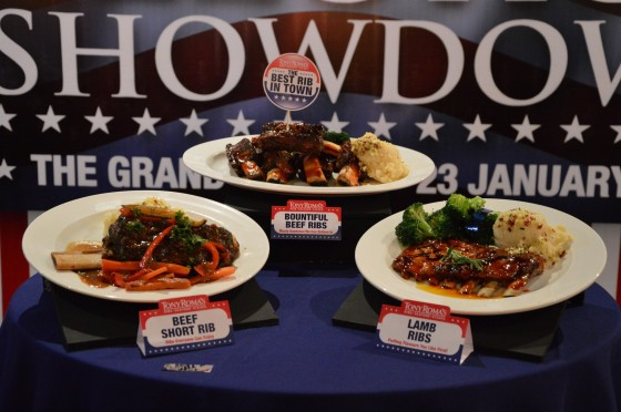 3 Delectable Ribs on display, before the winner was announced.