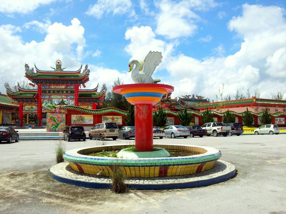 Beautiful Temple on the way from Sibu - Bintulu