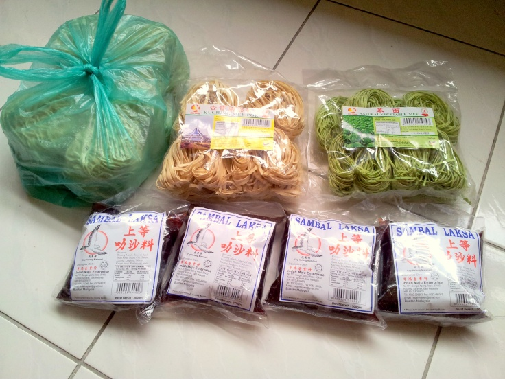 Noodles, more noodles and Packets of Laksa Paste!