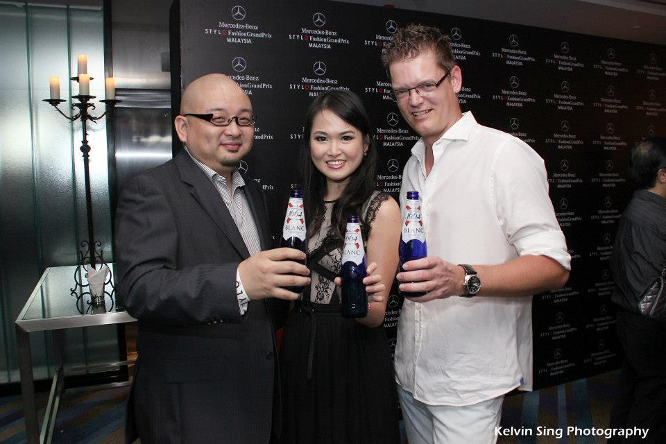 With Jason Chan on the left and Soren Ravn, MD of Carlsberg Malaysia enjoying our Kronenbourg 1664.