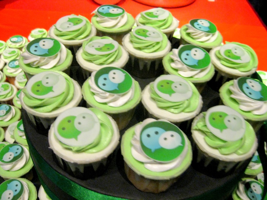 WeChat Cupcakes. Nice touch.