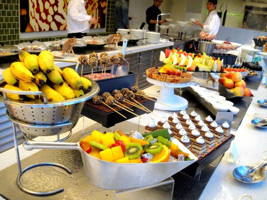 Dessert spread.