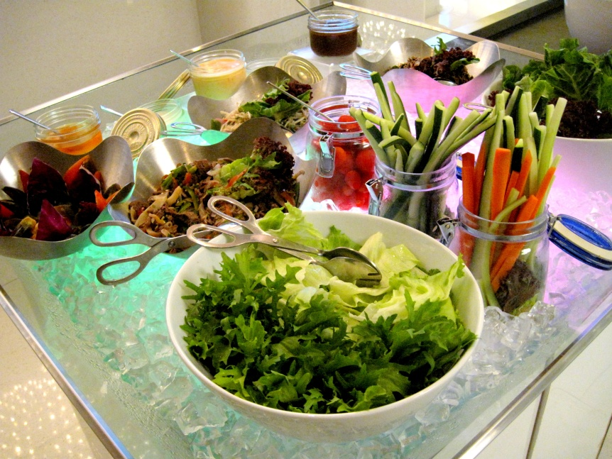 All manners of colourful salads to fulfill your vege intake of the day.