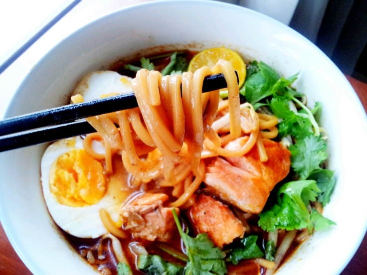 Glorious aromatic noodles.
