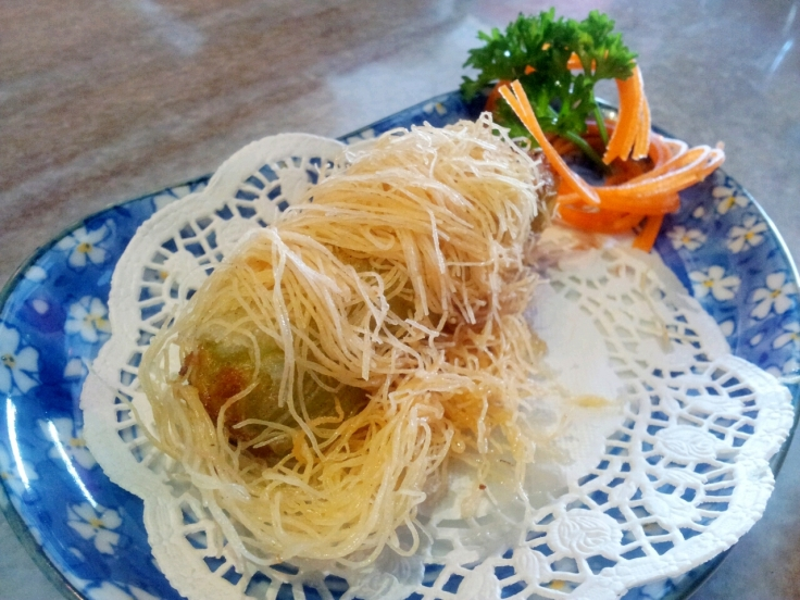 Deep Fried avocado roll with crispy silk wrap RM7.80