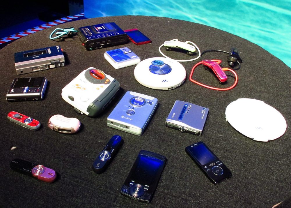 The evolution of entertainment devices over the last few decades.