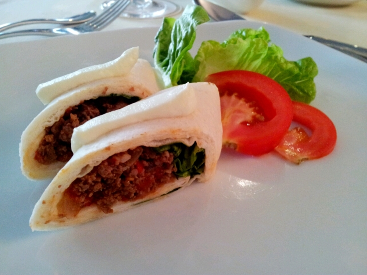 Beef Tortilla with Tomato Salsa