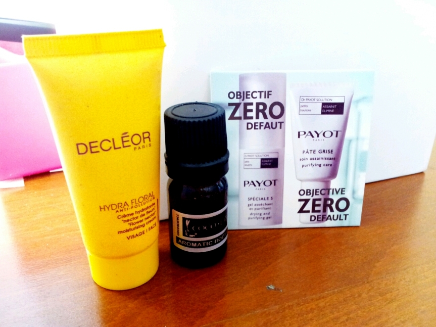 Decleor Hydra Floral Moisturizing Cream, Cocolab Aromatic Body Oil, Payot Speciale 5 Purifying gel