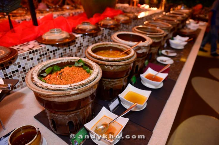 Assortment of Malay dishes.