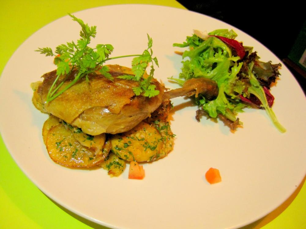Duck Confit, Potato Sarladaise & Mesclun Salad