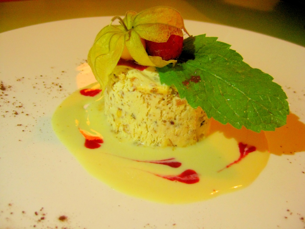 Nougat Glace (Iced Nougat) with Fruits & Nuts Nougatine, Grand Marnier Scented