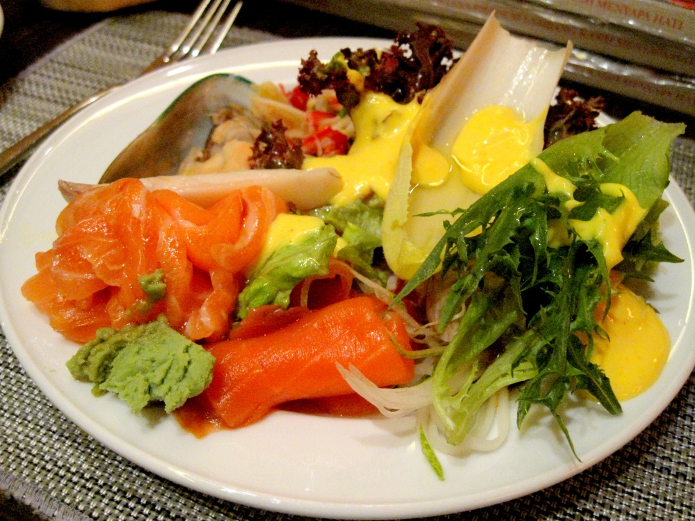Cold dishes with plenty of salmon