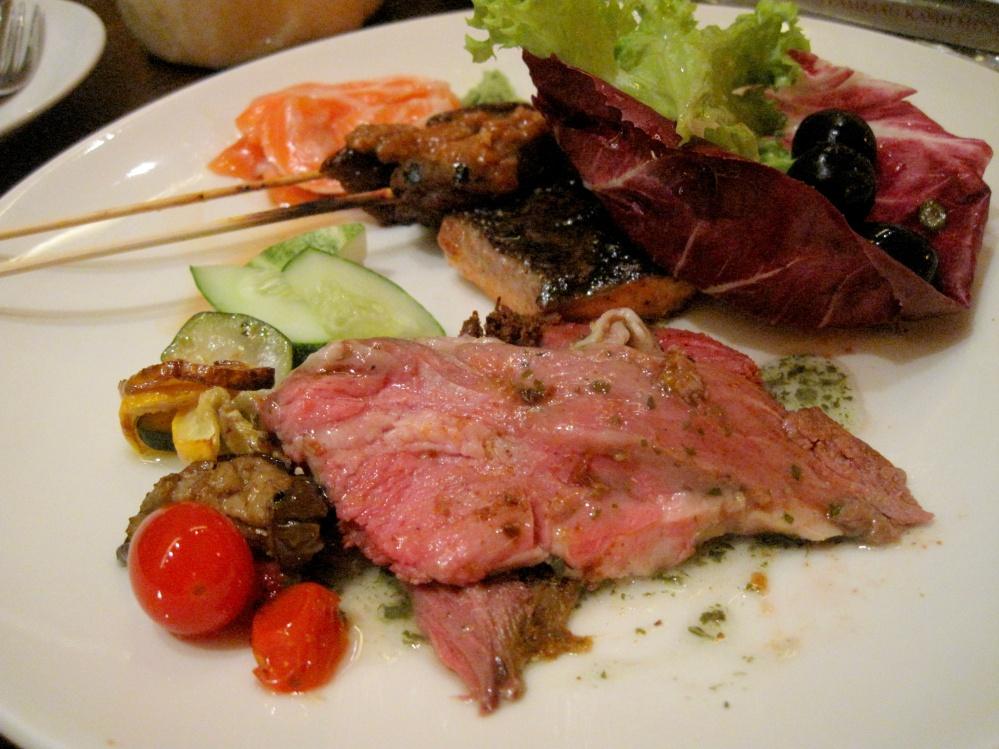 Lamb, Satay, more greens, more salmon!