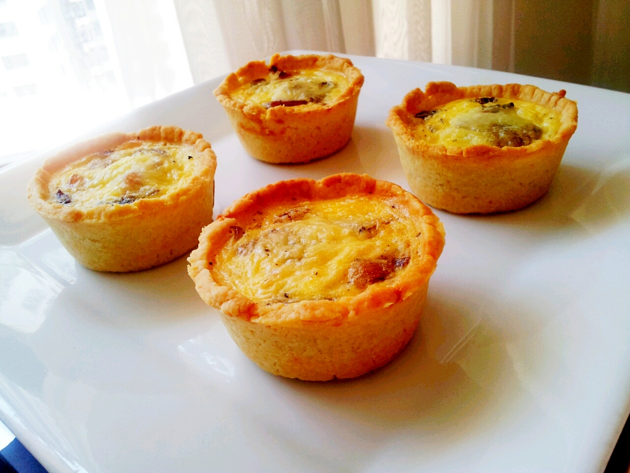 Bacon and Mushroom Mini Quiches | Kelly Siew Cooks