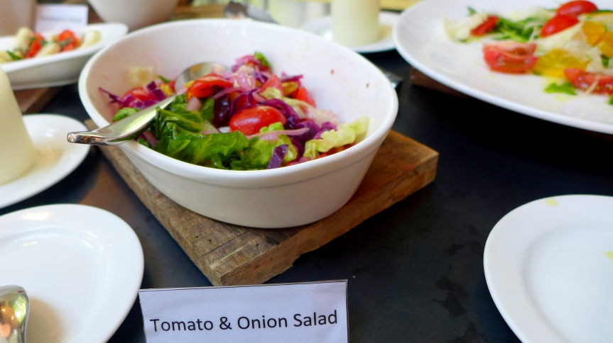 Gorgeous salad spread