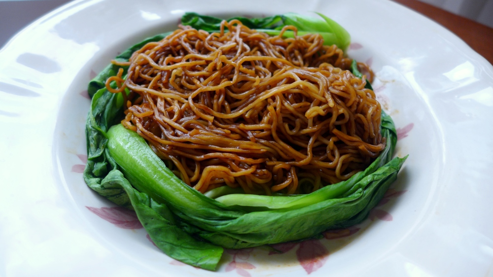 This plate of noodles is so aromatic from the char siew oil