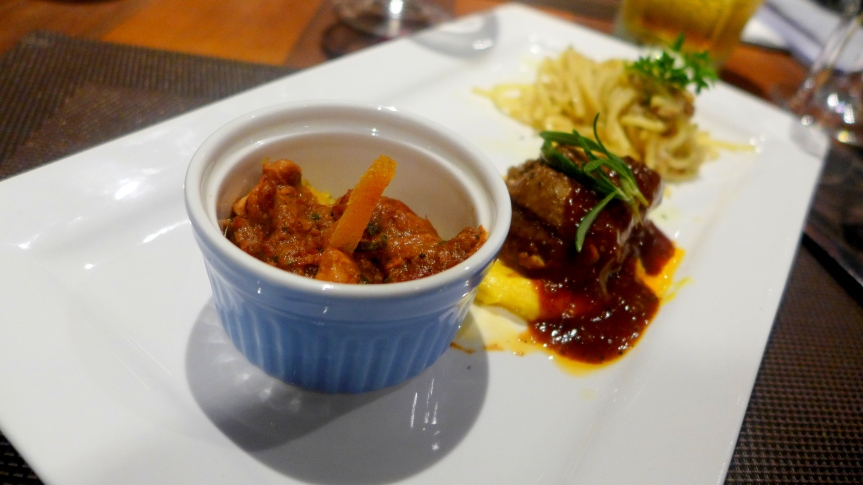 Slow Cooked Lamb with buttered couscous on tasting plate (RM40 for full size)