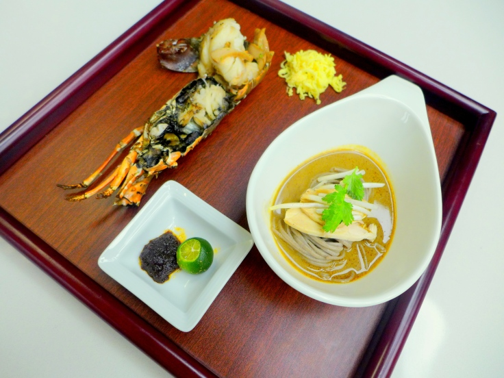Sarawak Laksa with Organic Soba Noodle, Lobster & Abalone