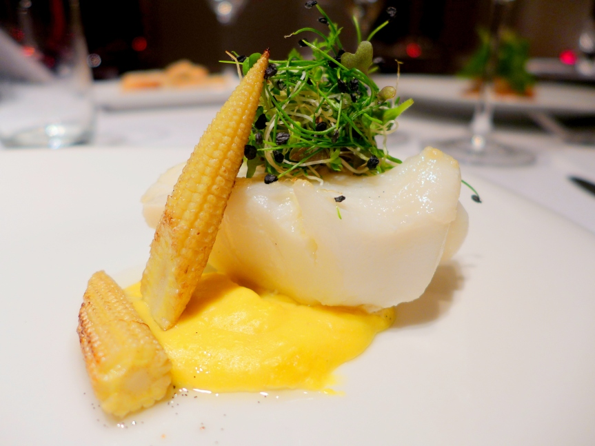 Confit Fillet of Cod with Creamed Organic Corn