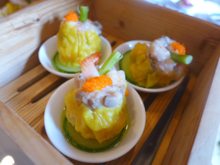 Steamed Siew Mai with Chicken and Tobiko