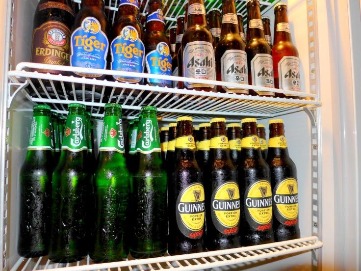 Erdinger, Tiger, Asahi, Carlsberg, Guinness Stout