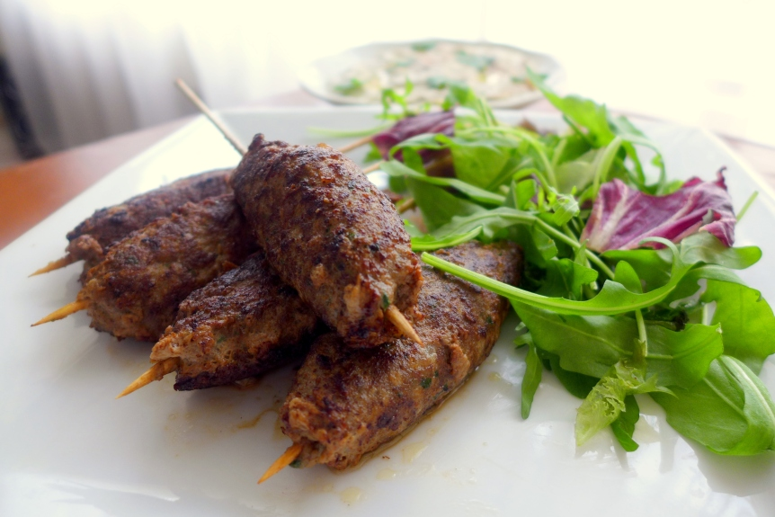 Lamb Kofta with Baba Ganoush