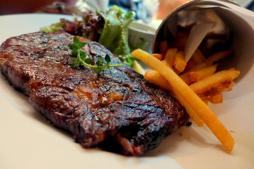Grain Fed Rib Eye Steak Frites