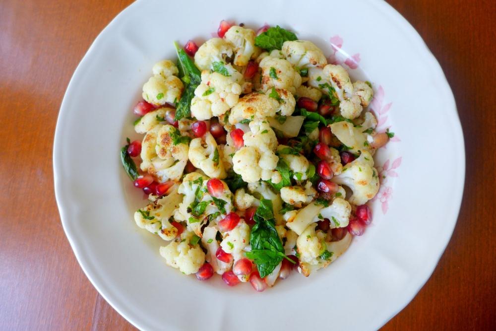 Spiced Cauliflower Salad, home version.