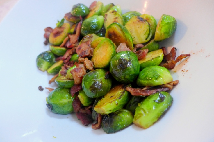 Brussel Sprouts with Bacon and Dried Cranberries