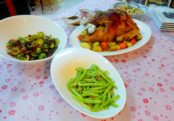 Our Christmas Spread which is relatively Paleo except for the Roast Potatoes.