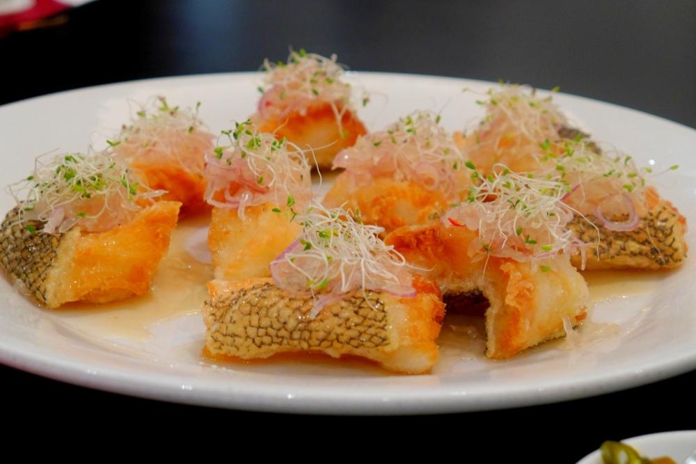 Deep Fried Cod Fish with Pomelo Sauce (杨枝鳕鱼)