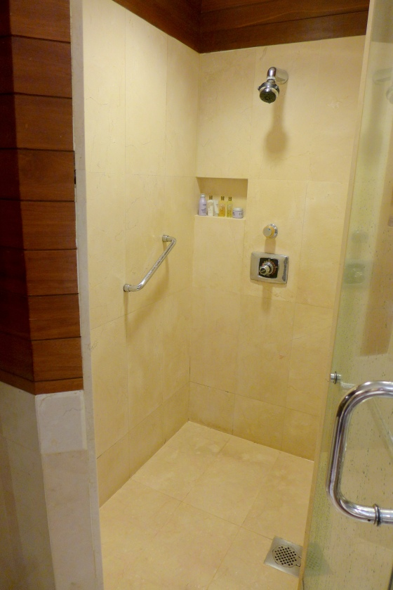 Shower cubicle.