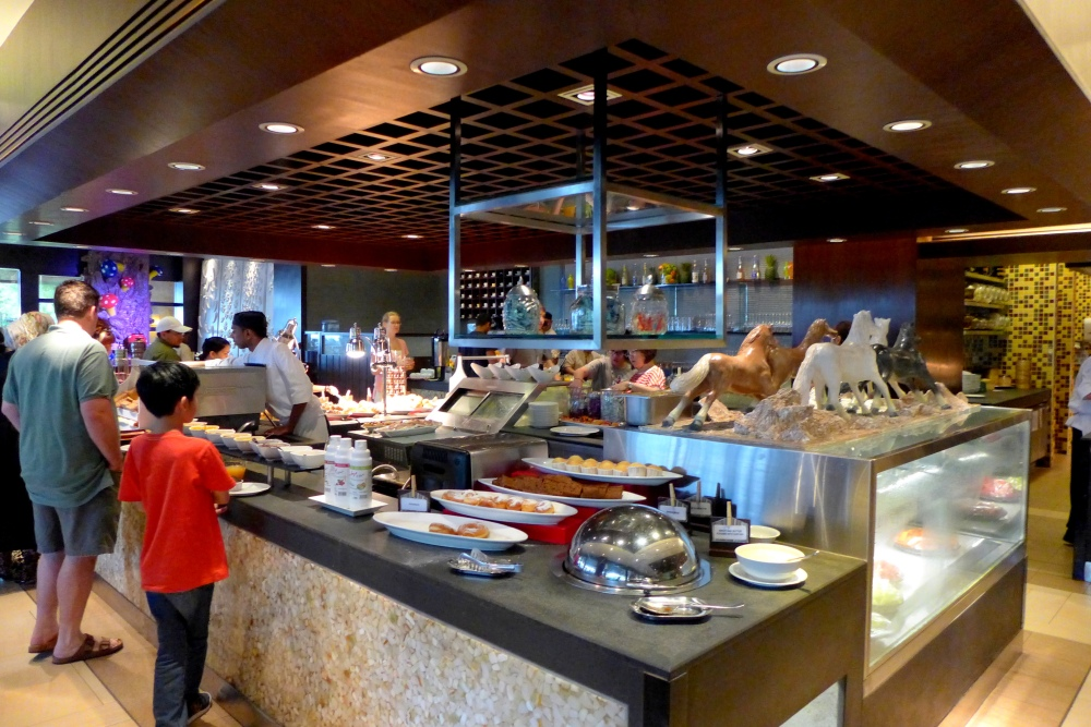 Impressive Buffet Line at Spice Market Cafe.