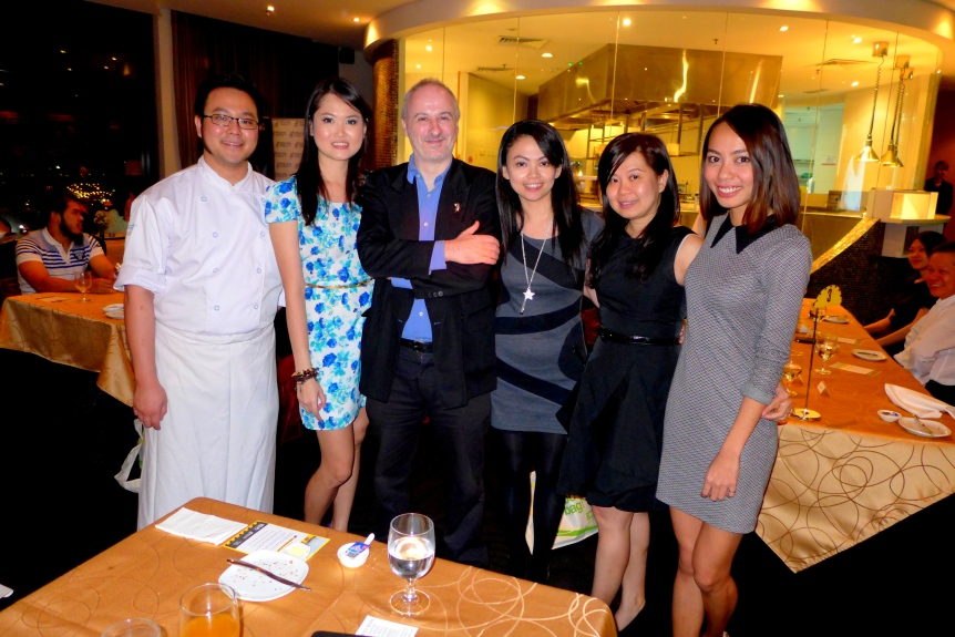 With Chef Malcolm, Hanker, her friend Nicole and Zher.